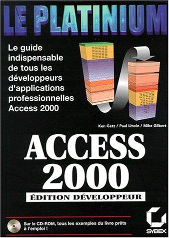 Access 2000 : édition développeur