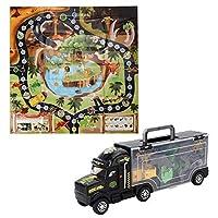 Tnfeeon Transport Truck Vehicle Set, Dinosaur Container Truck Model Children