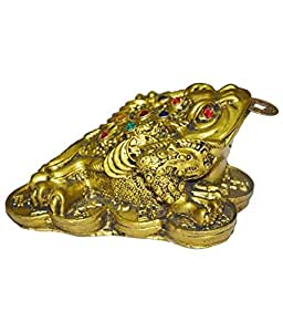 Discount4product Feng Sui Frog Idol (6 cm x 4 cm x 5 cm, Antique)