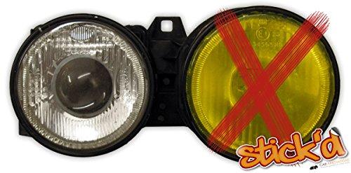 2 Glasschutzfolien 25 x 30 cm - für extreme Belastungen für Scheinwerfer an PKW, LKW, NFZ… Farbe: klar / transparent