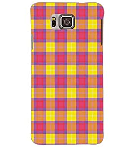 PrintDhaba Pattern D-5165 Back Case Cover for SAMSUNG GALAXY ALPHA (Multi-Coloured)