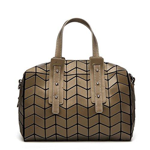 2017 Geometrisch Lingge Kissenbeutel Große Kapazität Schulter Tragbar Messenger Tasche Handtaschen Mode Einfach Personalisiert Mehrfarben- Einstellbarer Schultergurt Gold