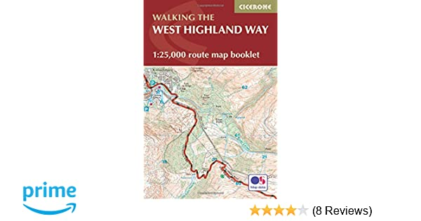 west highland way map booklet 125 000 os route mapping british long distance trails amazoncouk terry marsh 9781852848989 books
