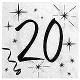 Chal - 20 Serviettes anniversaire 20ans
