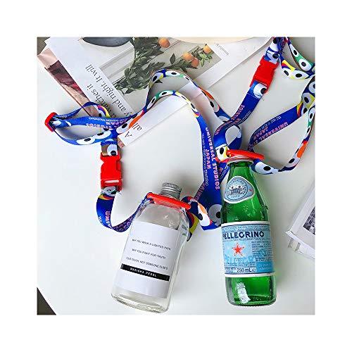 Little Roger Flaschenhalter Lanyard -Stylischer Tragegurt für Trinkflaschen Passt für die Meisten Wasserflasche Einstellbar Wasserflasche Sling, Kompakt Lanyard Flaschenträger(2 Pack)