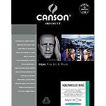 Canson infinity Arches Aquarelle Rag 206121028 - Papel fotográfico (A4, 25 hojas), color blanco