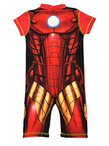 Boys Character Swimsuits With UV Sun Protection 50+ Superhero Sunsuit Kids Size UK 1-7 Years