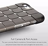 Amozo Soft Cube Design Silicon Back Cover Case for Apple iphone 6 / 6S (Black)