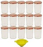 Viva Haushaltswaren - 15 x großes Marmeladenglas