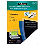 Fellowes 5477901 - Portadas para encuadernar de polipropileno, A4, verde