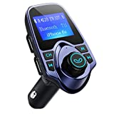 FM Transmitter, VicTsing Car MP3 Player Handsfree Car Kit with Dual USB Charging Ports, 1.44 Inch LCD Display, 3.5mm Audio Port, TF Card Slot, USB Flash Drive Port For iPhone, iPad, iPod, HTC - Blue