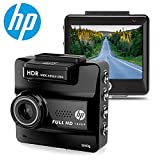 HP Super HD 1440p In Car Dash Cam Camera DVR Digital Driving Video Recorder High Definition 2560x1440 Pixels with Built in GPS,WDR,Super Night Vision