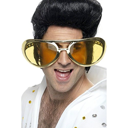NET TOYS 70er Jahre Riesenbrille Rockstar Pornobrille Scherzbrille Partybrille Elvis Brille Kostüm Zubehör