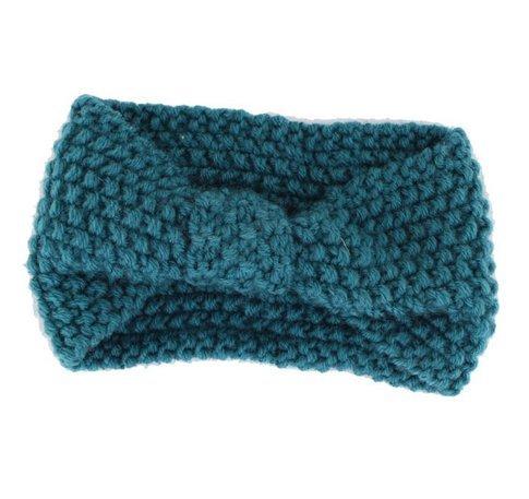 Zeuxs Damen Häkelarbeit Schleife Design Stirnband Winter Kopfband Haarband-11