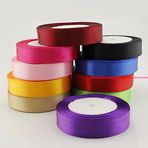 Generic 16 : 22cm Silk Satin Band gift wrap wedding festive supplies sewing elastic band camo fabric ribbon bias binding haberdashery