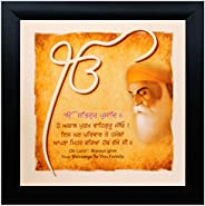 SAF UV Textured ' Guru Nanak' Print Framed Painting Set of 1 for Home Decoration – Size 30 x 2 x 30 cm