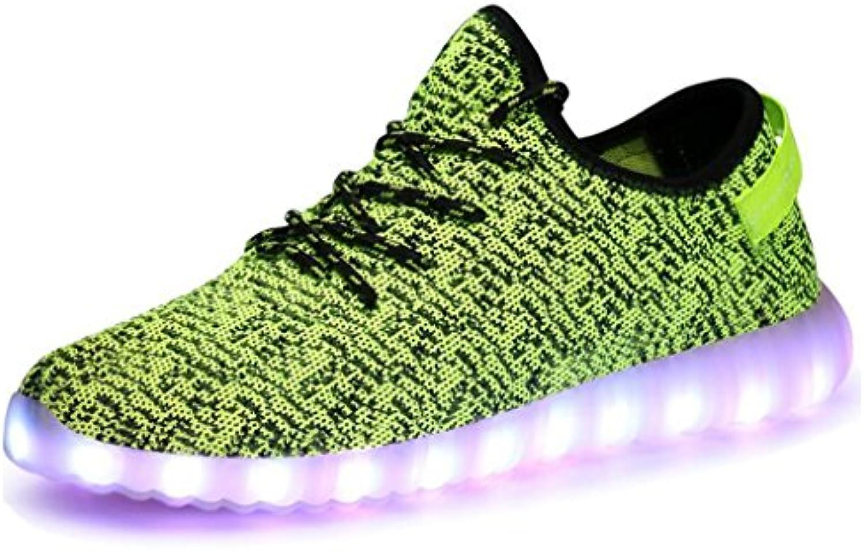 Sunshineangel Herren Damen Outdoor LED Sneakers Sportschuhe Schnuumlr Turnschuhe Canvas Schuhe