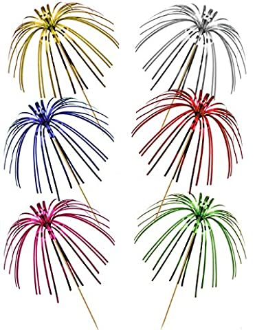 Lot de 30piques palmier pour cocktail - Différentes couleurs