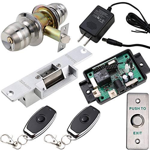 UHPPOTE - Juego de cerradura de puerta eléctrica y mando a distancia