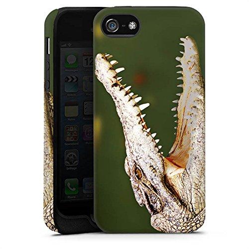 Apple iPhone X Silikon Hülle Case Schutzhülle Krokodil Reptil Echse Tough Case matt
