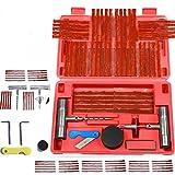 Bescita Reifenreparatur Reifen Reparatur Set DIY 57 Stück für Motorrad, ATV, Jeep, LKW, PKW, Traktor Flat Reifen Punktion Reparatur