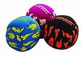 Schildkröt Funsports Neopren Mini-Fun-Bälle (Footbags), blau-gelb, schwarz-rot, rot-weiß, 17,5 x 11,5 x 5,0