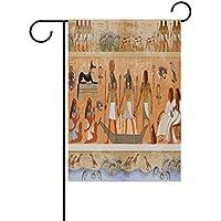 coosun antiguo Egipto bandera de escena de poliéster bandera de Jardín al aire libre hogar partido jardín decoración, doble cara, 28