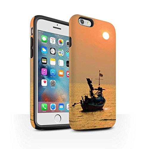 STUFF4 Matte Harten Stoßfest Hülle / Case für Apple iPhone 6+/Plus 5.5 / Feuerwerk Muster / Thailand Landschaft Kollektion Orange Sonne