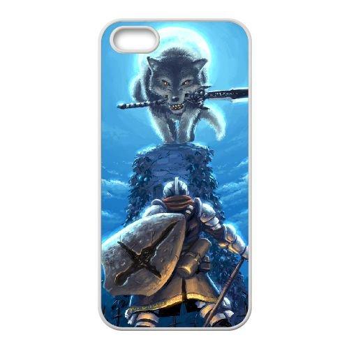 Dark Souls coque iPhone 4 4S Housse Blanc téléphone portable couverture de cas coque EBDXJKNBO15647