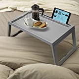 #5: MeRaYo™ Adjustable laptop table / Folding Bed Tray / Study Table / Multi- Function Table (Grey Color)