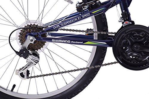 "516ZVNK4ngL - Arden Peak 26"" Wheel Dual Full Suspension 21 Speed MTB Bike 16"" Frame"