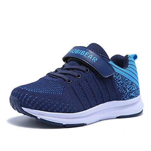 Sneaker Mädchen Laufschuhe Jungen Hallenschuhe Jungen Outdoor Sportart Schuhe Low-Top für Unisex-Kinder, Gr.-32 EU=33CN, Blau