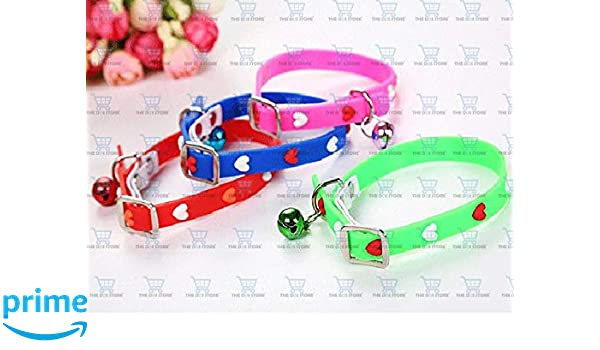 Pet Cats Dogs Claw Patterns Silicone Adjustable Collar Colorful with bell