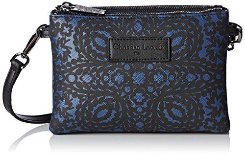 Christian Lacroix Picador 4, Borsa a tracolla donna , Blu (Bleu (Noir Bleu Fonce 7I02)), X-Small