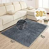 Teppiche / Teppichläufer für Wohnzimmer grau Modernen Shaggy Teppich 80X120cm