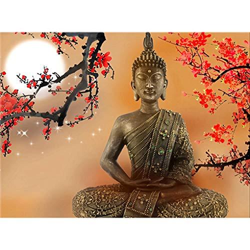 WACYDSD Puzzle Adulte 1000 Pièces Puzzle 3D Salon Mur Art Fleurs Et Bouddha Zen Images Hdbouddhisme Affiche Décor À La Maison