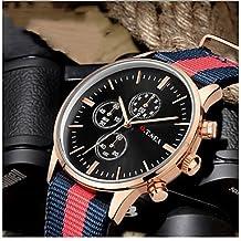 Relojes Hermosos, Hombre Reloj Deportivo Reloj Militar Reloj de Vestir Reloj de Moda Reloj de Pulsera Cuarzo Digital Calendario Aleación BandaCosecha ( Color : Black/Silver , Talla : Para Hombre-Una Talla )