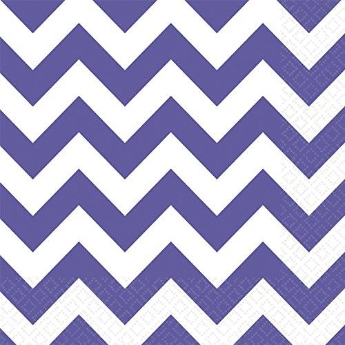 Servietten, Motiv Chevron 33cm violett ()