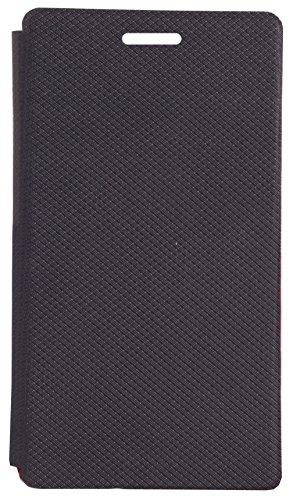 Mucho-Premium Luxury PU Leather Flip Case Cover For Panasonic Eluga I3 – (Black)