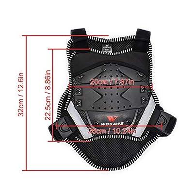 Schutzausrüstung Motorrad Back Riding Ski Skateboard Skating Armour Vest Brustweste Schutzkleidung für Kinder mit Reflektor-Streifen