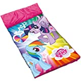John-Toys - Saco de dormir My Little Pony para niños, color rosa, blanco
