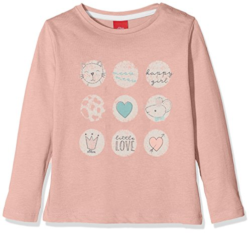 s.Oliver Baby-Mädchen Langarmshirt 65.808.31.8139, (Dusty Pink 4257), 74