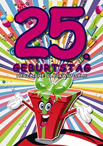 paperSky 101289 Grußkartezum 25. Geburtstag inklusive Umschlag