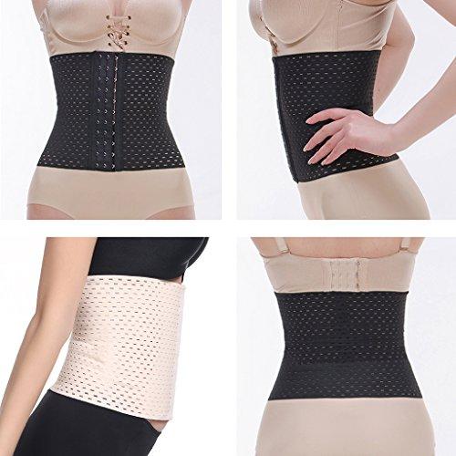 Gazechimp Für Damen Frauen Mädchen Bauchgürtel Taillenformer Korsage Miedergürtel Mieder Body Shapewear Schwarz