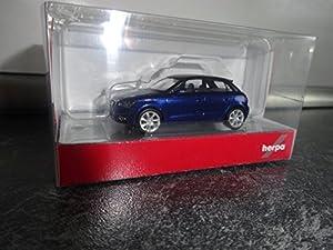 Herpa 034890-002Vehículos Audi A1Sportback, Scuba Azul metálico