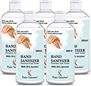 Kuber Industries Aloevera Gel Hand Sanitizer 70% Isopropyl Alcohol Based Gel Instant Germ Protection (Set Of-5