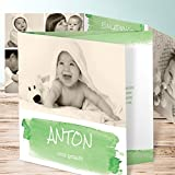 Taufkarten Mädchen, Günther 20 Karten, Doppelklappkarte 145x145 inkl. weiße Umschläge, Grün