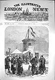 1871 Hochziehende Deutsche Kriegs-Soldaten Flagge Mont Valerien