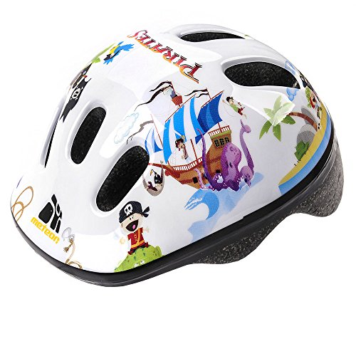 Price comparison product image Meteor Baby Kids childrens Boys Cycle Safety Crash Helmet Small size (Pirate,  48-52 cm)
