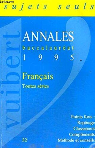 FRANCAIS. Sujets, édition 1995